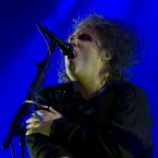 Robert Smith of The Cure performs on the main stage at Electric Picnic last night. Photo: Andres Poveda