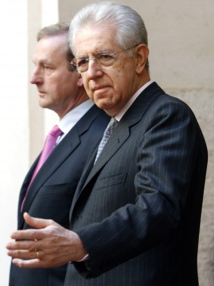 Enda Kenny and Mario MOnti last held a bilateral meeting in February.