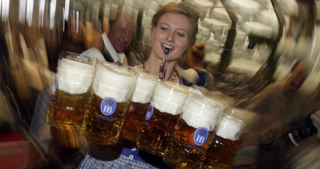 PHOTOS: Rain fails to dampen spirits as Oktoberfest opens