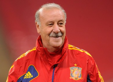 Vincente Del Bosque has suggested he will leave the game once his time with Spain is up.