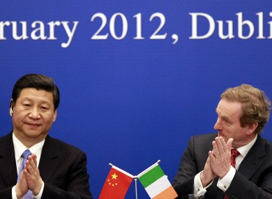 Xi Jinping with Taoiseach Enda Kenny in February
