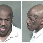 Bonus Mike Tyson shot. This 2006 mugshot from his arrest for allegedly driving drunk and possessing cocaine is just too good to pass up