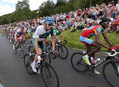 Ireland's Dan Martin climbs Box Hill during the London Olympics road race this summer.