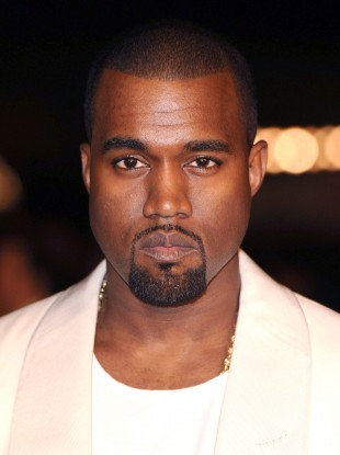 Kanye West, not smiling.