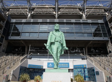 A statue of Michael Cusack founder of the Gaelic Athletic Association at the entrance to Croke Park, which has lent its name to the current deal on public sector cut