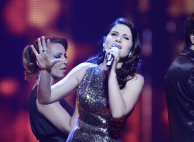 Filipa Sousa performs for Portugal during the semi-final of this year's Eurovision. Portugal is joining Poland in sitting out next year's contest.