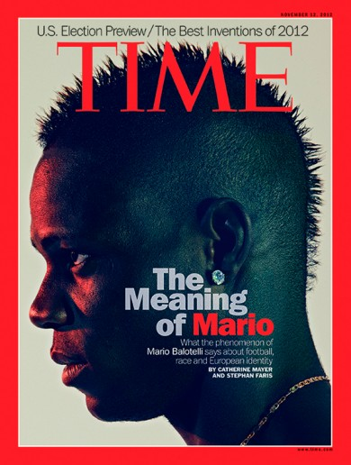 Move over, Enda — Mario Balotelli takes the cover of Time International