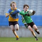 St Mary's BNS Rathfarnham's Tom Coghlan with Dylan Pierce of St Mary's BNS Lucan