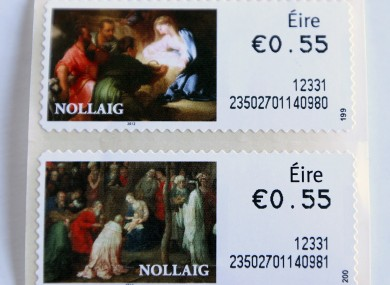 Irish stamps, which show the word 'É
