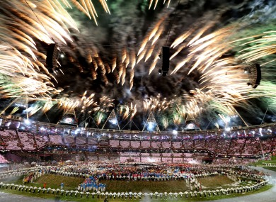 The London 2012 opening ceremony.