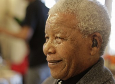 Mandela celebrating his 94th birthday in July.