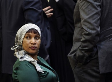 Nafissatou Diallo, who accused Strauss-Kahn of sexually assaulting her, in court today.