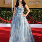 Homeland's Zuleikha Robinson channels her inner-Lucy Liu and went to Avoca for a tablecloth dress.
