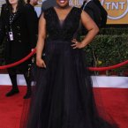There really was a prom theme among the Glee cast. Amber Riley's tulle is probably our favourite though. (Photo by Jordan Strauss/Invision/AP)