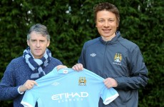 Meet Manchester City's new signing… Jamie Oliver