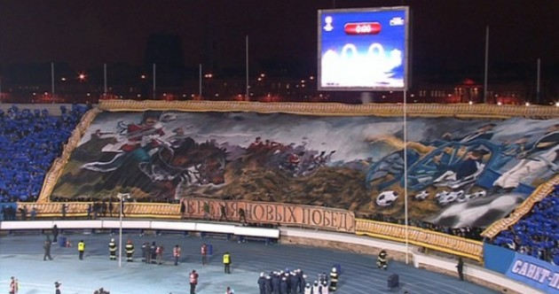 It looks cool — but what was the Zenit fans' banner for Liverpool all about?