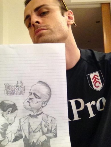 Dimitar Berbatov is an artist off the pitch too it seems