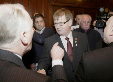 Willie Frazer, pictured centre.