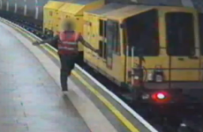VIDEO: Runaway train races through the London Underground
