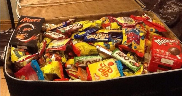 PIC: 'Suitcase crammed full of chocolate and crisps' pic of the day