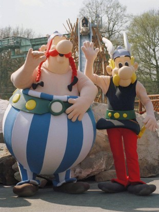 Obelix and Asterix figures at the Asterix theme park in northern France - but what do we really know about the Gauls?