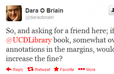 Tweet Sweeper: Dara O'Briain's overdue library book