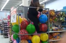 How to climb into a supermarket ball pit