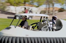 That Bubba Watson hovercraft golf cart is a real thing
