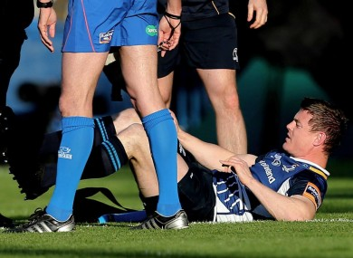 Brian O'Driscoll was replaced early in the first half.