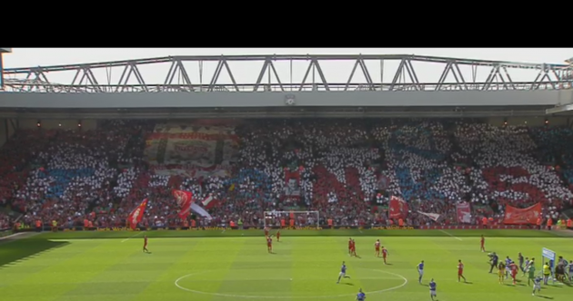 Snapshot: Liverpool fans say 'thanks' to Everton