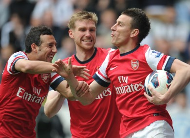 Koscielny after scoring for Arsenal.