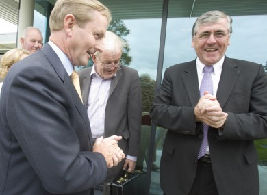 Tom Hayes (right) with Enda Kenny in 2009