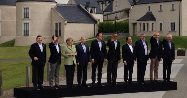Awkward Family Photo of the Day: G8 leaders pose for traditional snap