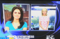 This newsreader and weather forecaster REALLY don't like each other