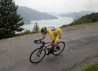 Froome: stretched his yellow jersey lead.