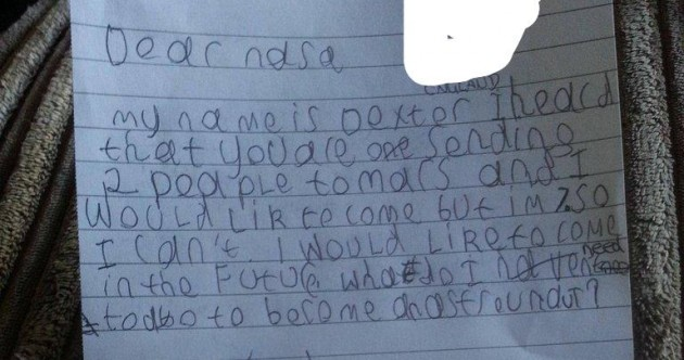 7-year-old boy writes to NASA, gets amazing reply