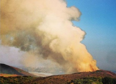 A similar fire on Howth Summit last Thursday.