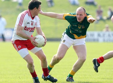 Tyrone's Conor Gormley and Meath's Joe Sheridan (File Photo)