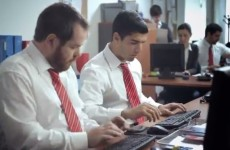 Luis Suarez diving and whining… in an office job