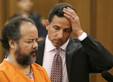 File: Ariel Castro, left, stands before a judge with defence attorney Craig Weintraub during Castro's arraignment