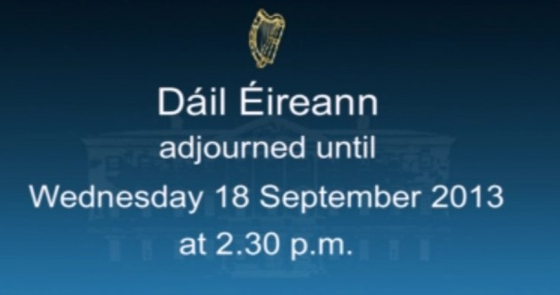 The Dáil has gone on holidays until September