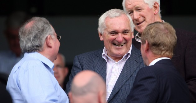 Pics: Enda Kenny met Bertie Ahern at Croke Park yesterday