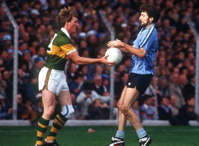 Pat Spillane of Kerry and Ciaran Duff of Dublin in 1984.