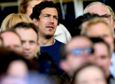 Face in the crowd: Mike McCarthy watches Leinster's Grand Final win over Ulster.