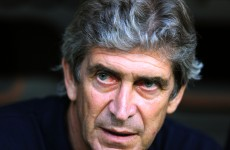 Manuel Pellegrini targeted by missiles on visit to Old Trafford