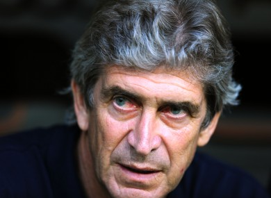 Noisy neighbour: Manchester City's new manager Manuel Pellegrini.