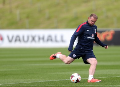 ngland's Wayne Rooney during the training session at St George's Park today.