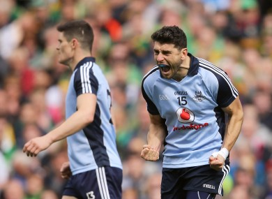 Bernard Brogan and the rest of the Dublin team have plenty to celebrate after today's game.