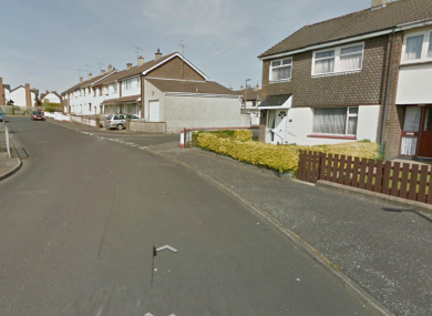 The incident happened in the Ballynagard Crescent area of Derry on Friday.