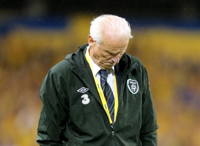 Trapattoni: a night to forget in Dublin.